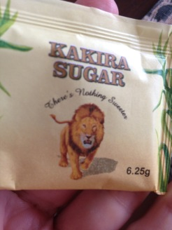The sugar packets