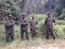 The Squad who kept us safe and got us close to the gorillas