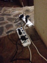 Charging station in the lobby