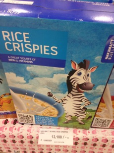 Zebras: the rice crispie mascot