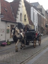 Horse drawn carriage through Bruge