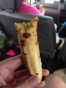 Roasted plantain- I ate two!