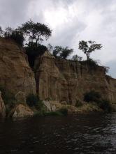 The cliffs around the water