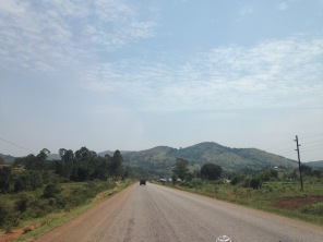 The road to Queen Elizabeth National Park