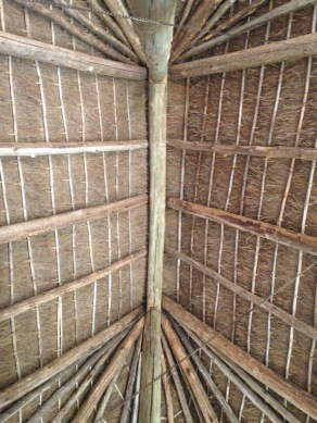 the roof of our hut