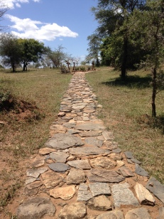 the path at the lodge